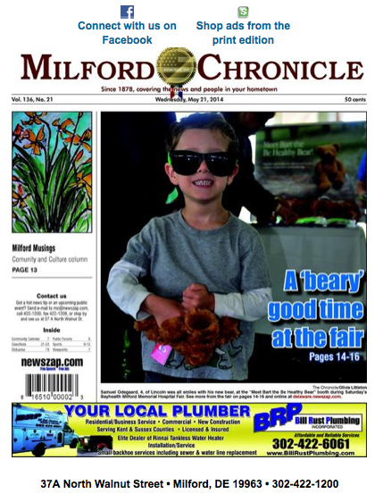 Milford Musings article in Milford Beacon featured my painting